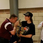 Coach Donnie South (CHESS) Kissing the Goat at Paris Hoops Tournament